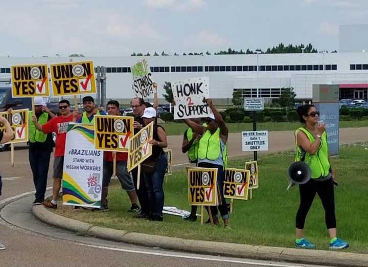 CANTON MISSISSIPPI NISSAN WORKERS VOTE FOR RIGHT TO UNIONIZE