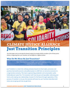 Just Transition Principles