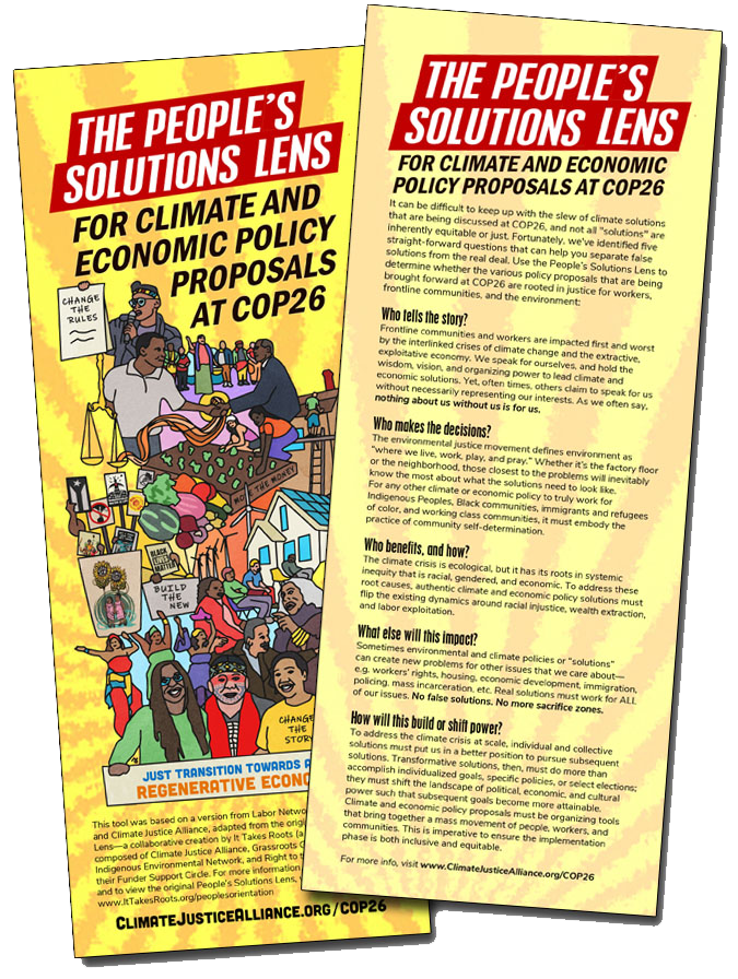 The People's Solutions Lens for COP26